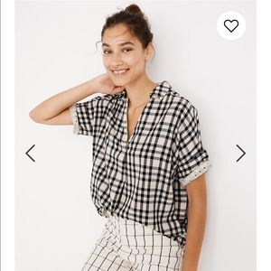 Madewell Courier Button-Back Shirt (Plaid)